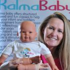 Kalma yoga bolsters baby development