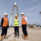 Northern Powerhouse Minister gives seal of approval to New Wear Crossing on site visit