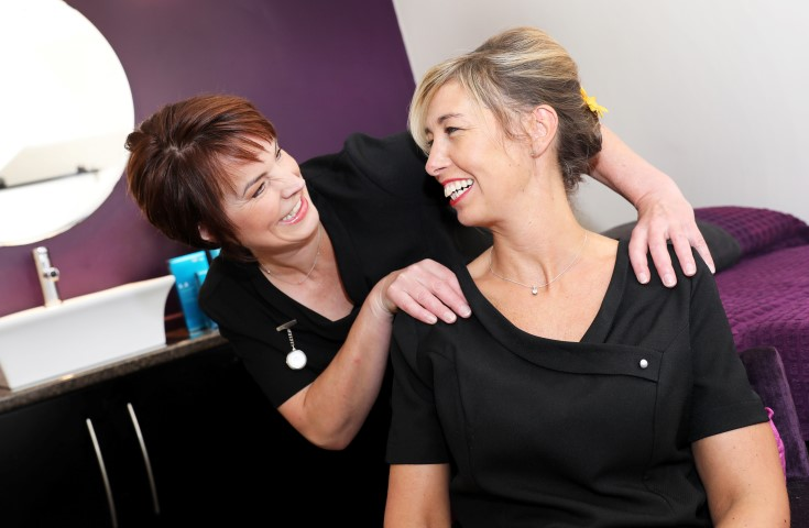 Beverley Brown and Tracey Lilburn of Cleadon Beauty, a BIC start-up support client