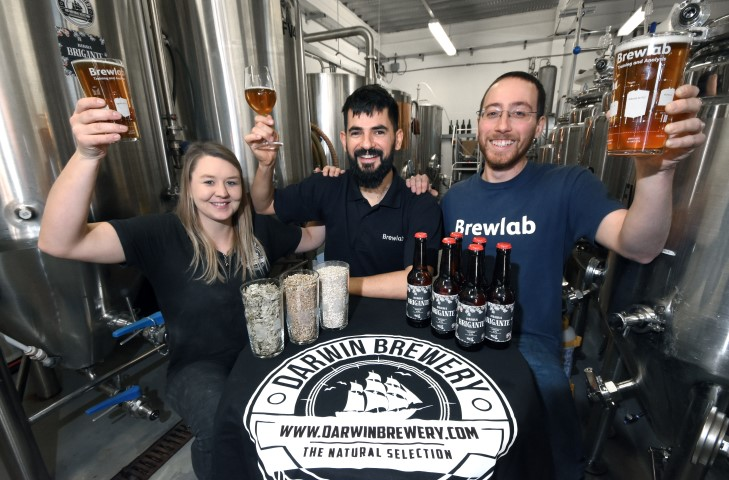 The Erasmus for Young Entrepereneurs Programme's Gianni Lombino at Brewlab in Sunderland.
